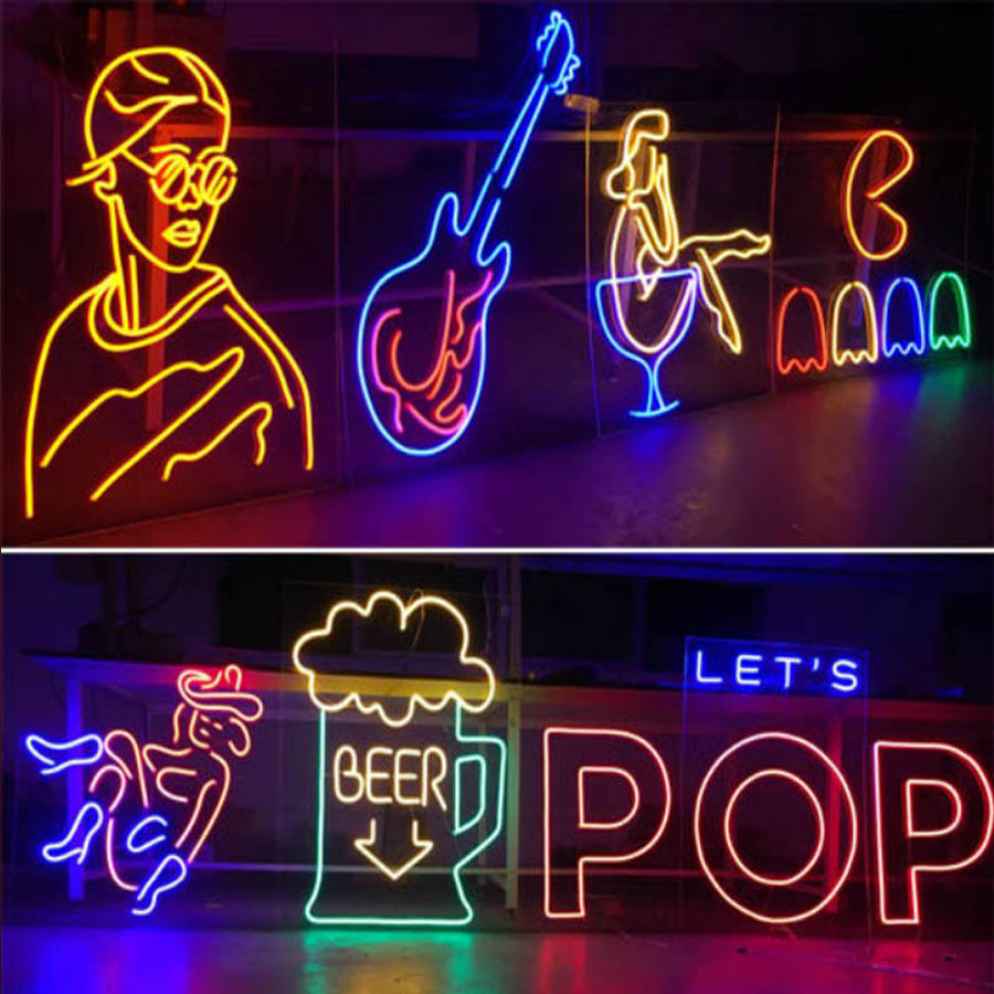 Wall Mounted 12V LED Custom Neon Sign Light