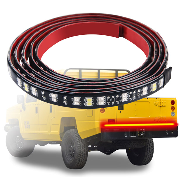 "60"" Double Row Waterproof LED Flexible Strip Truck Tailgate Light for Trailer, SUV and Towing Vehicle"