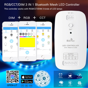 Dimmable RGB CCT LED Light Strip LED Bluetooth Controller