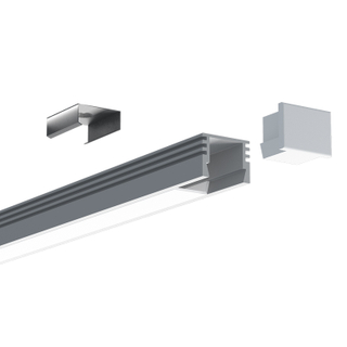 1612 Surface Mounted LED Aluminum Profile for Flexible LED Tape Lights