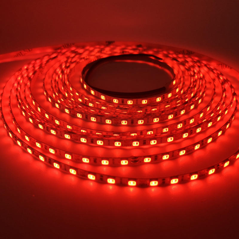 Thin and Small 4mm 120LEDs/m 2835 Red LED Strip Light