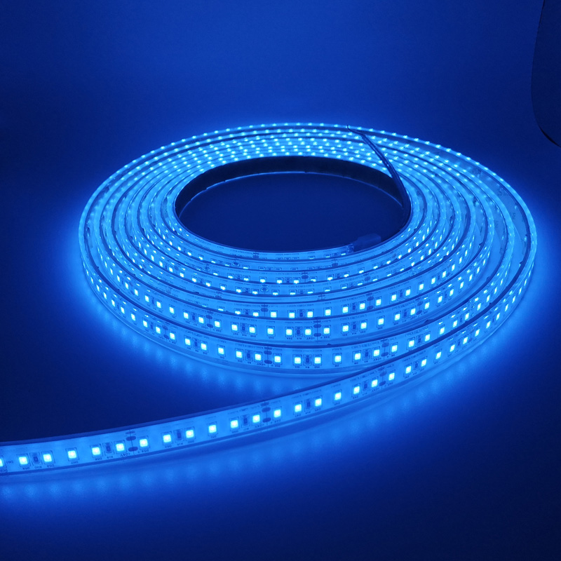IP68 Waterproof Ice Blue SMD 2835 120LEDs/m LED Strip Lights for Outdoor Lighting